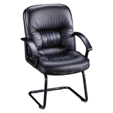 "Guest Chair, 25-3/4""x28-1/4""x40-1/4"", Black Leather"