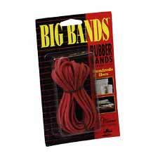 "Big Rubber Bands, 7""x1/8"", 12/PK, Red"