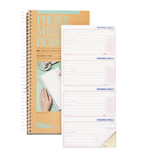 "Phone Call Book, 11""x5-1/2"", 400 Sets, WE/CY Paper"