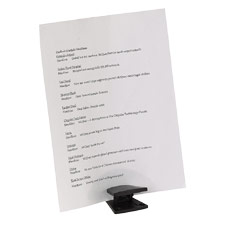 "Document Wedge, Holds 20 Documents, 4-1/2""x3-1/2""x2"", Black"