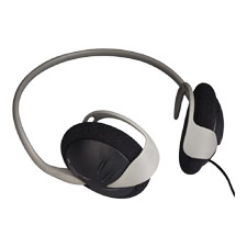 Stereo Backphones, 35mm, 4' Cord, Grey/Black