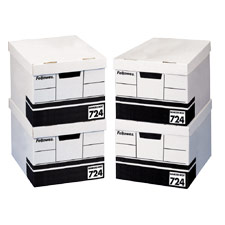 "Storage File, Letter/Legal,12""x15""x10"", 12/CT, White/Black"