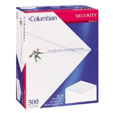 "Business Envelopes, Security, No 10, 24 Sub, 4-1/8""x9-1/2"", WE"