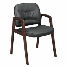 "Guest Chair, w/ Wood Arms, 24-1/2""x28-1/4""x35-1/4"", MY"