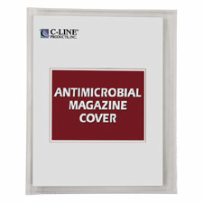 "Antimicrobial Magazine Cover, For 11""x8-1/2"", 25/BX, Clear"