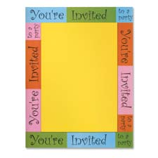 "Image Paper ""You Are Invited, 24/60 lb, 100/PK, 8-1/2x11"""