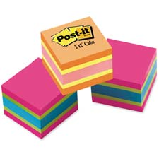 "Post-it Note Cube, 400 Sheets, 2""x2"", Bold Brights"