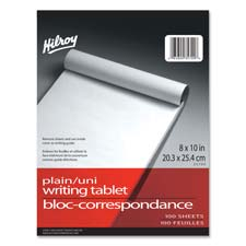 "Social Stationery Writing Tablet, Plain, 8""x10"", 100 Shts, WE"