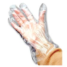 Poly Disposable Gloves, Large/Extra Large, 100/PK, Clear