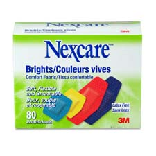 Bandages, Comfort Fabric, Nonstick, 80/EA, Assorted Colours