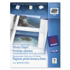 "Photo Pages, 4""x6"", Horizontal, Punched 3-Ring Binder, Clear"