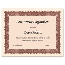 "Certificates, 8-1/2""x11"", 24 lb, 25/PK, Cloche Red w/Seals"