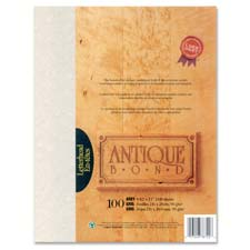"Antique Bond Laser Paper, 8-1/2""x11"", Blue"