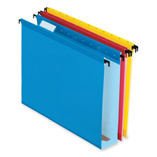 "Hanging File Folders, 2"" Expansion, Legal, 20/PK, Asst"