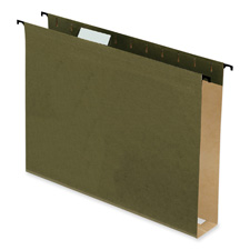 "Hanging File Folders, 2"" Expansion, Legal, 20/PK, Green"
