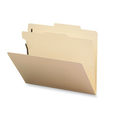 Classification Folder, 1 Divider, Letter, 10/BX, Manila