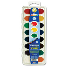 Watercolours, w/ Brush, Washable, Nontoxic, 16/ST, Assorted