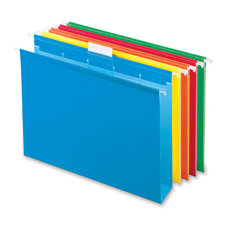 Box Bottom Hanging Folders, w/Ready Tabs, Ltr, 20/BX, Assorted