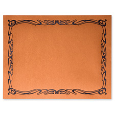 Certificates, 28 lb., 12/PK, Metallic Copper