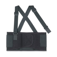 Back Support, Detachable Suspenders, X-Large, Black