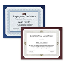 "Certificate Holder, 80lb. Linen, 12-1/2""x9-3/4"", 25/PK, Navy"