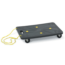 "Stow Away Dolly, 220 lb. Cap., 3"" Casters, 16""x24""x4"", Black"