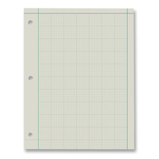 "Engineer Pads, Ruled 5x5Sq/Inch, 100 Sheets/Pad, 8-1/2""x11"", GN"