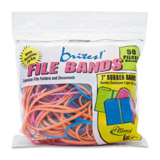 Rubber Bands, 1-1/2 oz., Assorted Sizes/Colours
