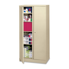 "Storage Cabinets, Two Point Locking, 36""x18""x72"", Light GY"