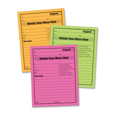 "Message Pad, ""While You Where Out"", 4""x5"", 6/PK, Neon Asst"