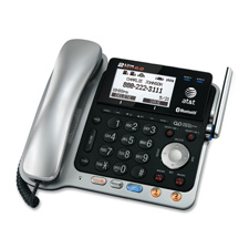 Expandable Corded Base Station w/Cordless Handset, BKSR