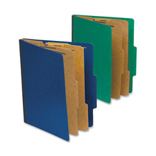 "Classification Folder, 2"" Expansion, 25 pt, Legal, Blue"