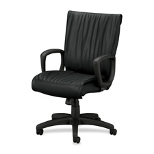 "Executive High-Back Chair,25""x27-1/2""x41-1/8"",Black Leather"