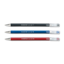 Ballpoint Pen, Refillable, Fine Point, Red Barrel/Ink