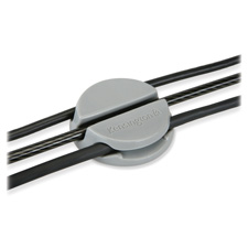 Cable Management Puck, 3 Cable Runners, 2/PK, Grey