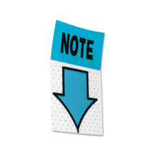 """Note"" Post-it Flags, 50 Flags, 1""x1-3/4"", White/Blue"
