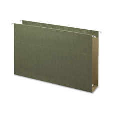 "Hanging Box Bottom Folders, 2""Cap, Legal, Green"