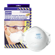 Dust And Mite Respirator, NIOSH/MSHA Rated, 20/BX, White