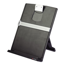 "Desktop Document Holder, 9-2/3""x2""x12-1/8"", Black/Silver"