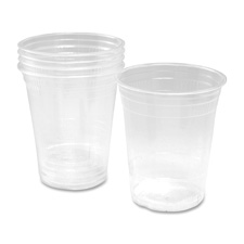 Cold Drink Cups, Compostable, 15/PK, Clear